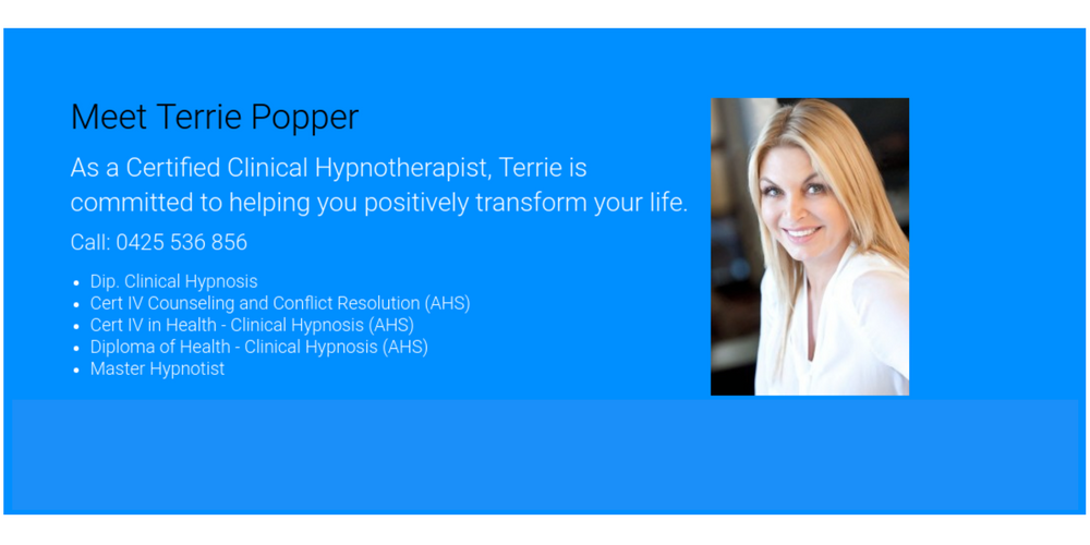 meet Terrie Popper Hypnoquit Hypnosis Melbourne
